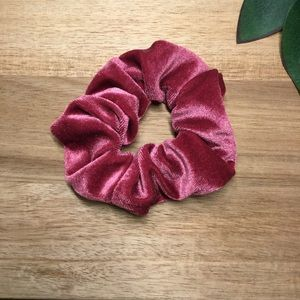 4/$20 New Velvet Scrunchy - Rose Red